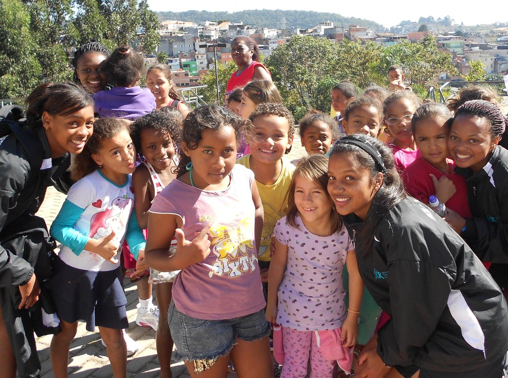 The girls melted at how sweet the local kids were!