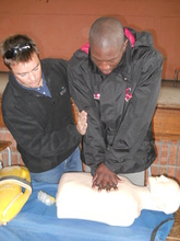 Siphosethu learning how to perform CPR