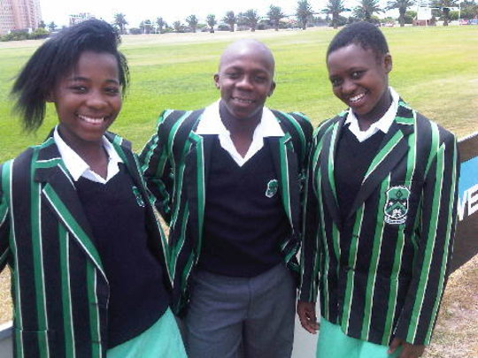 Zizipho, Aya and Asisipho's first day at school