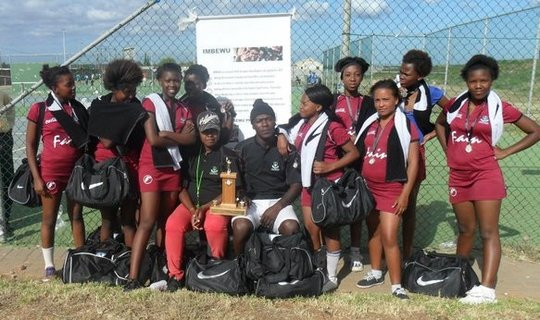 Our Netball girls with their trophy!