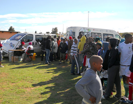 youth queuing up to get tested
