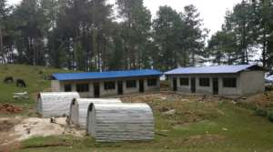Chapakharka school with temporary learning centres