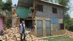 Tulasadevi school after the earthquake