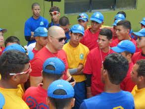 School Founder, Carlos Beltran visit