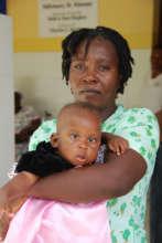 Joulie Pneumonia Patient in Haiti
