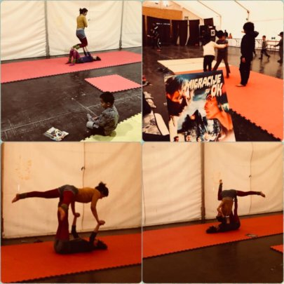 Collage from acrobalance