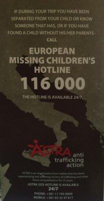 Leaflet for refugee population