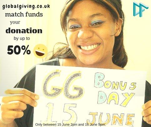 We raised over 1.000 on GlobalGiving Bonus Day