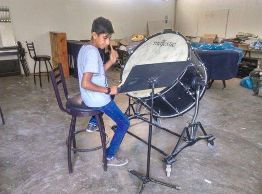 Estudiante de percusiones