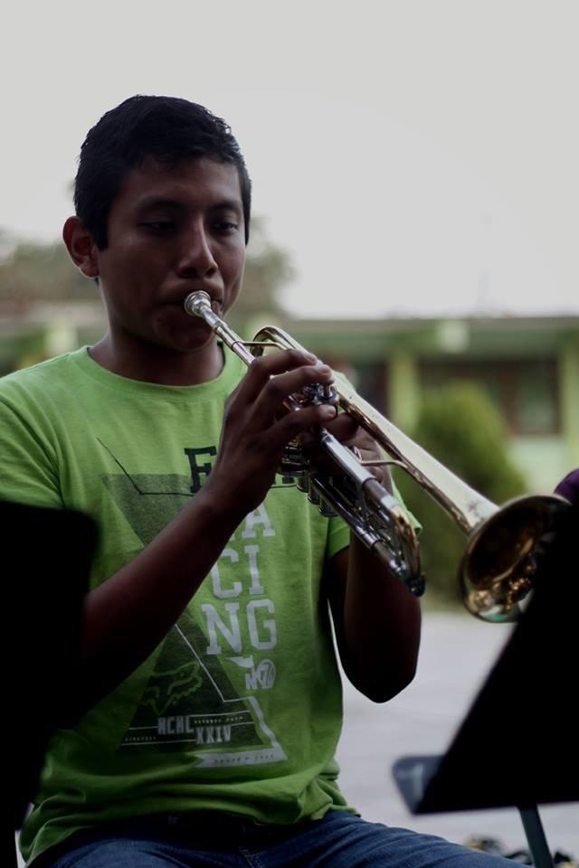 Julio Cesar, trumpet student