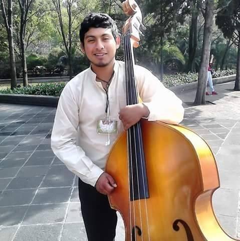 Ricardo, double bass student