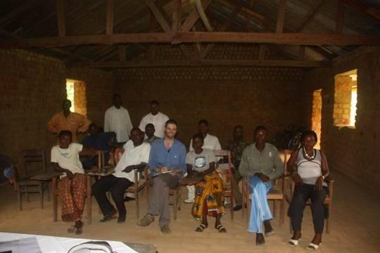 Djolu Technical College Class with Australian Visitor, Oct. 2009