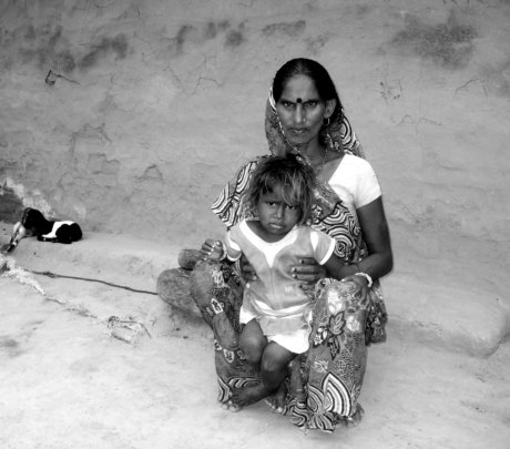 Mother and Child in the village