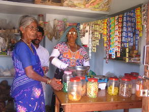 A tribal woman at her petty shop