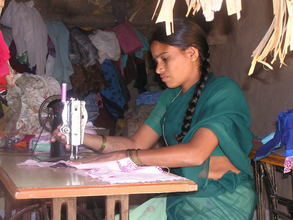 A physically disabled girl at work