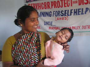 Shoba and her little boy with cerebral palsy.