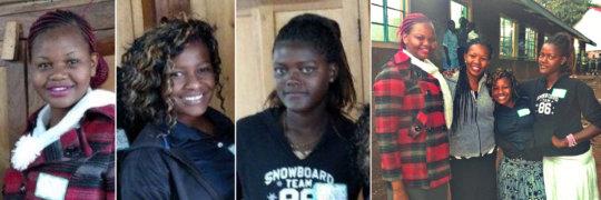 Caroline, Agnes, and Lydia - the SOS Mentors