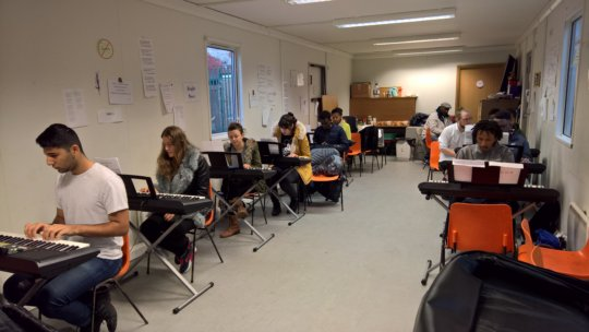 Service Users at Keyboard Skills Training