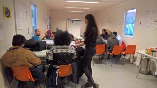 Service Users at Literacy/Numeracy Skills Training