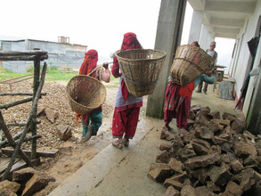 Transporting bricks at Bagh Bhairab