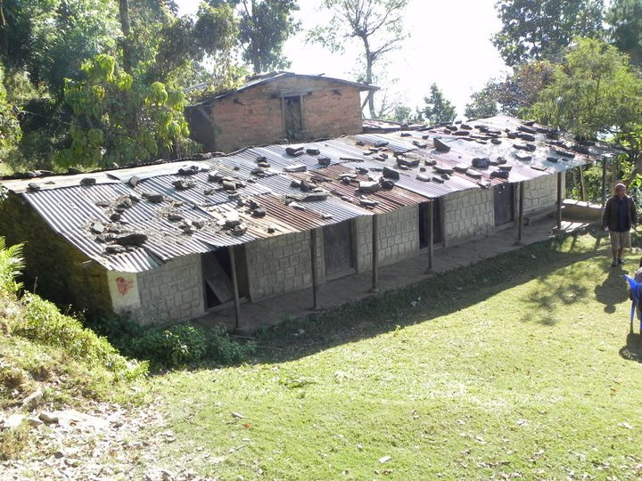 This block of classrooms was collapsing on itself