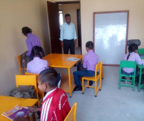 New furniture at Shringery School near Kathmandu.