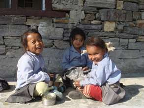 These girls attend the primary school in Bhatte.