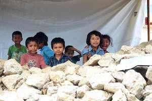 Despite hardship, children are still smiling