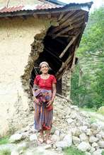 Private homes in villages have collapsed