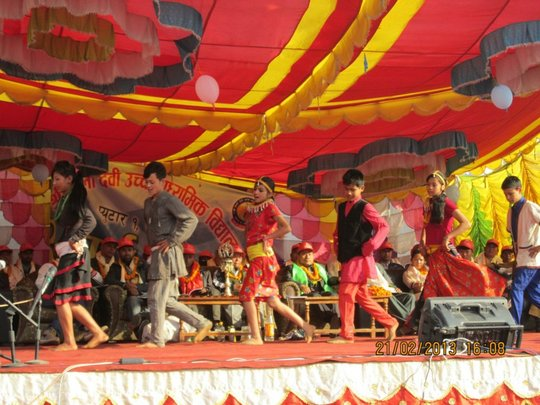 Children performed a welcome dance at the ceremony