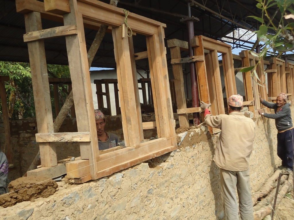 Construction of classrooms at Thakursthan