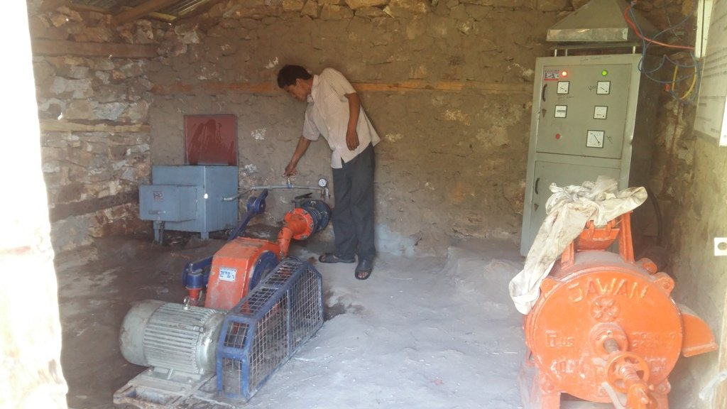 A Microhydro installation