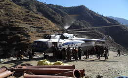 Transportation hydro equipment by helicopter
