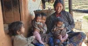 A poor Humli family