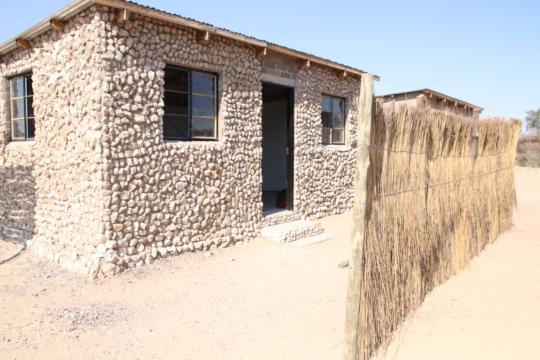 The newly finished healing hut