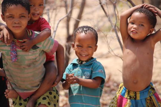 Ju'/hoansi Bushmen children