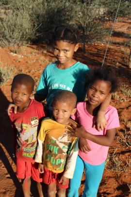 Khomani San Bushmen children