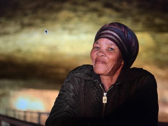 Bushman Elder in the Miracle Cave