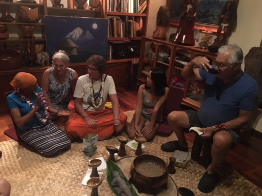 Lys at a traditional Hawaiian ceremony