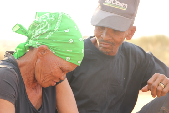 Lys and Isak in the Kalahari