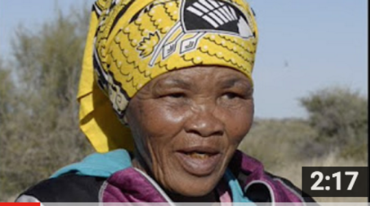 Bushman Elder Lys Kruiper