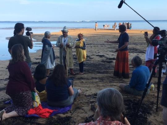 Bushman Healer being interviewed for documentary