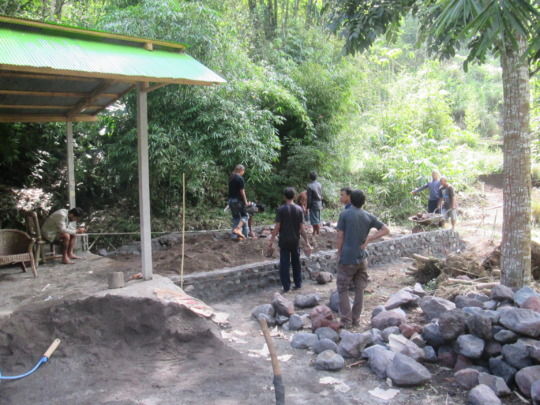 9th Aug, local volcanic rock foundation completed
