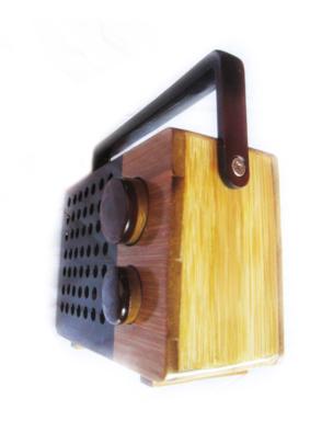 Radio box from bamboo