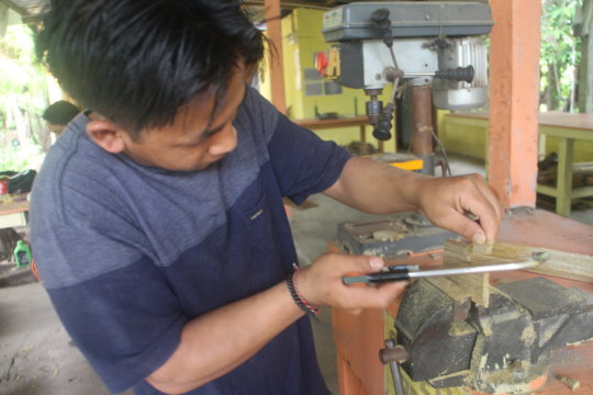 Training using the tool