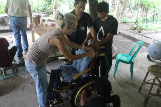 Preparing the wheelchair