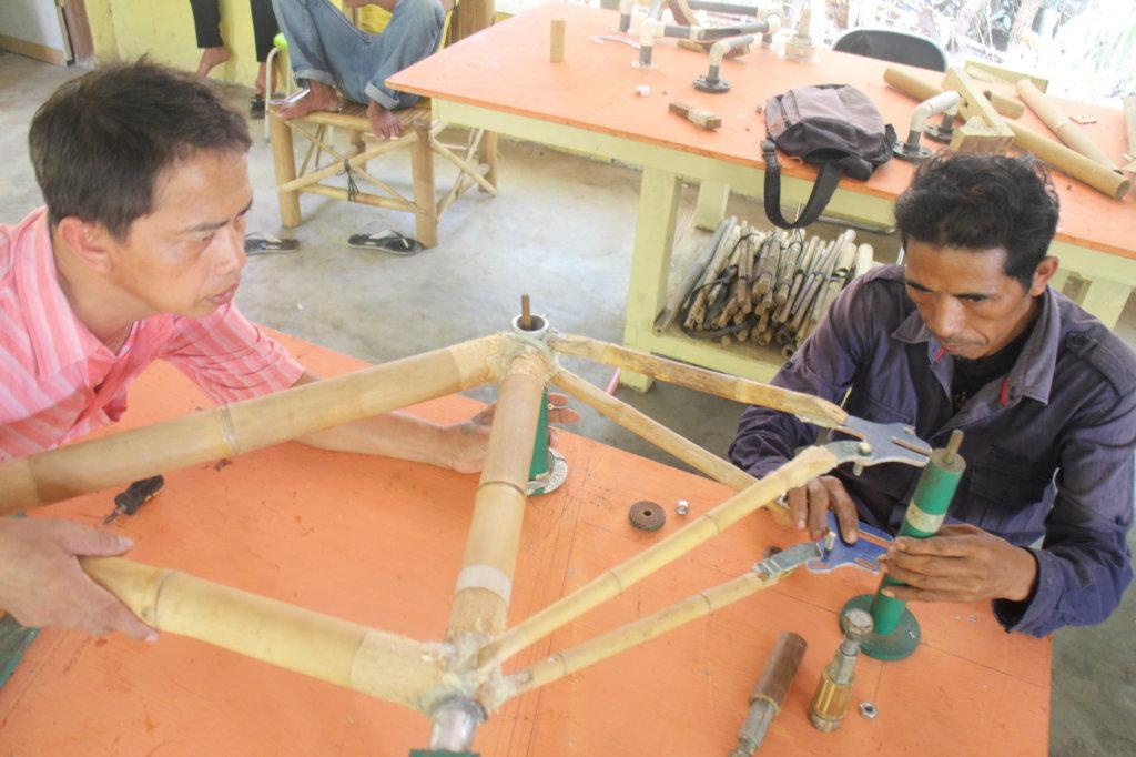 Setting frame in Jig & tacking