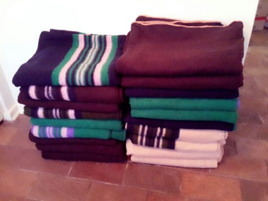 Donated blankets