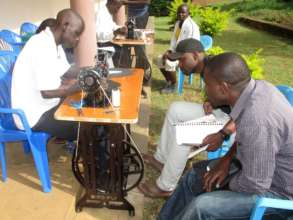 Learning to use treadle sewing machines