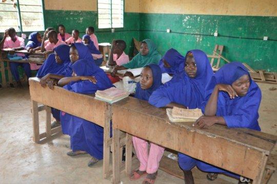 Girls in their classromms